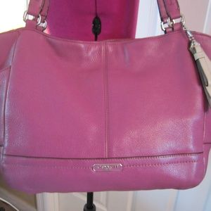 COACH purse pink rose Leather Hobo
